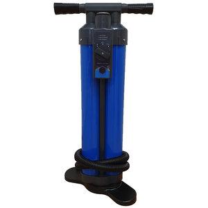 SUP Handpomp Triple Action met drukmeter - Blauw / Zwart